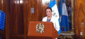 Roxana Baldetti en conferencia