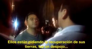 Discusión entre Jimmy Morales y Diputado Amílcar Pop. Foto: Video Guatevisión