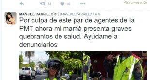 Massiel Carrillo denuncia a Agentes de la PMT