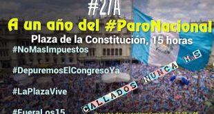 Manifestación este 27A recordando el Paro Nacional de hace un año