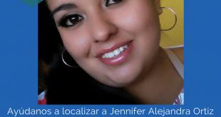 Ayúdanos a localizar a Jennifer Alejandra Ortiz Romero de 20 años de edad
