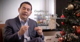 Jimmy Morales Mensaje de Navidad