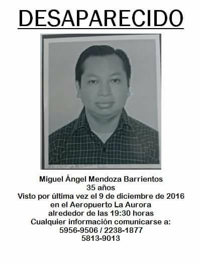 El señor Miguel Ángel Mendoza Barrientos