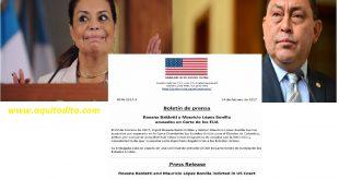 Roxana Baldetti y Mauricio López Bonilla acusados de narcotráfico