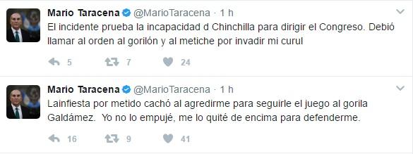 Esto Dijo Mario Taracena en su Cuenta de Twitter