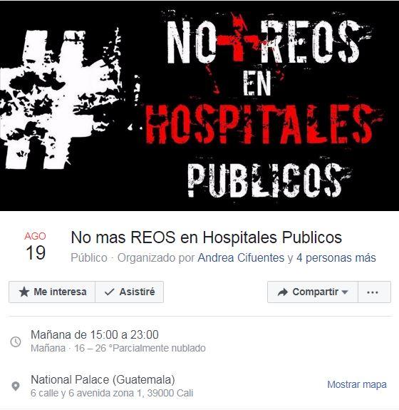 """""""No + Reos en Hospitales Públicos"""""""