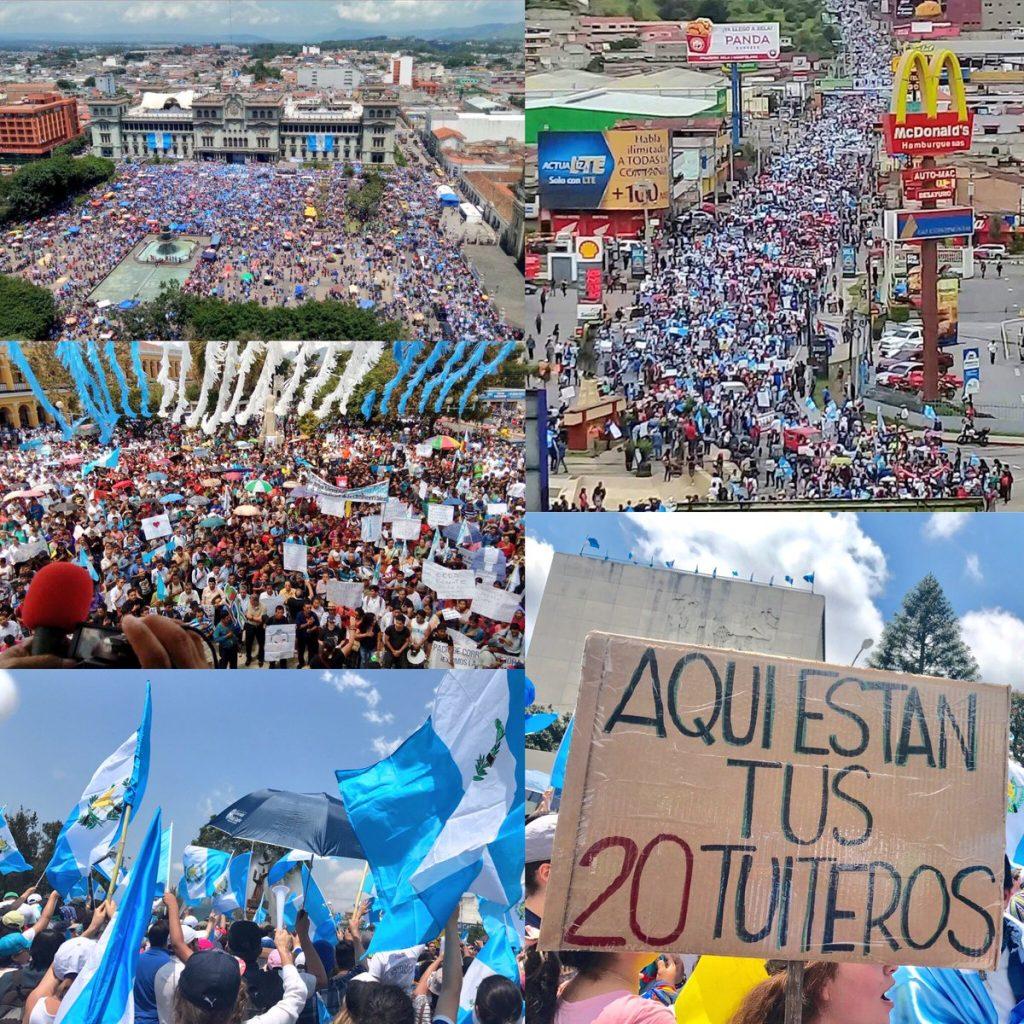 75 mil Manifestantes ocuparon Plaza de la Constitución
