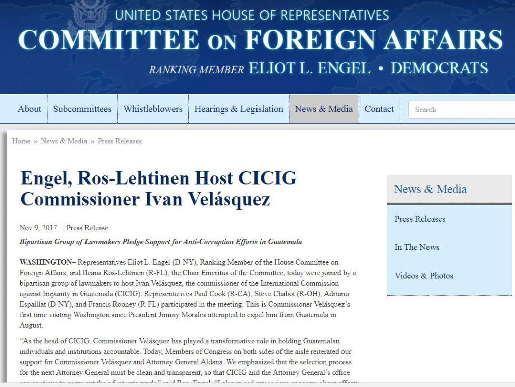 Ver comunicado del Comité de Asuntos Exteriores