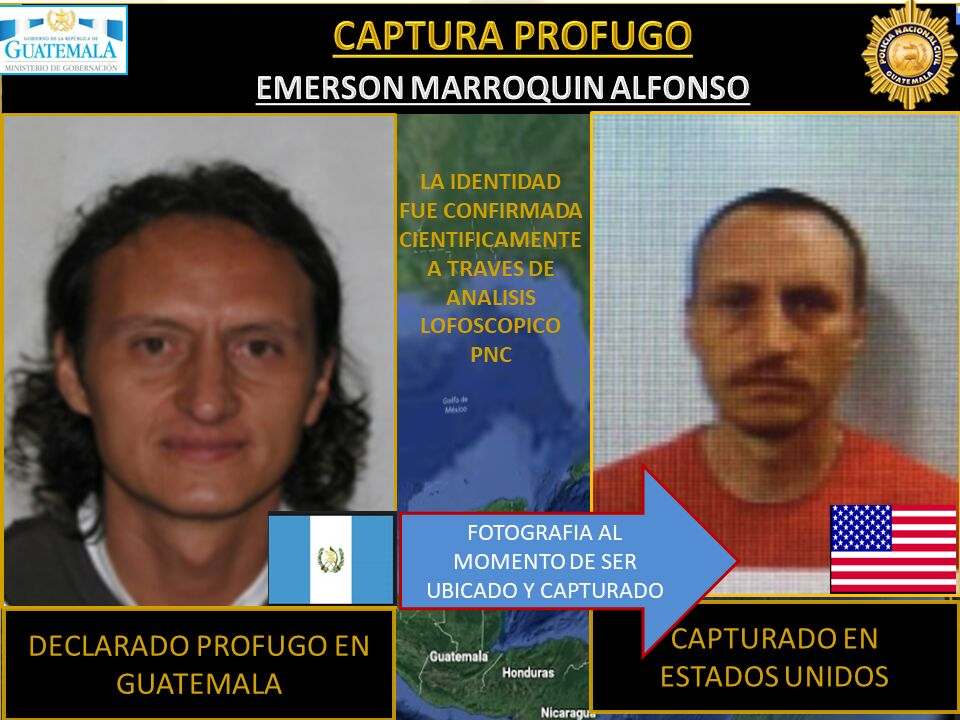 Emerson Jorge Marroquín Alfonzo Capturado en Estados Unidos.