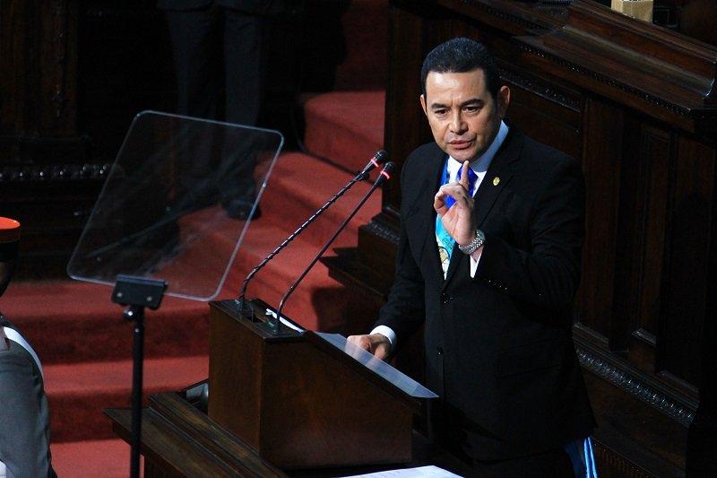 Jimmy Morales iniciará su tercer año de gobierno en medio de críticas