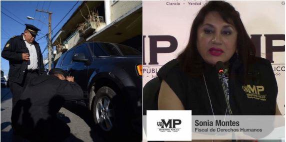 Atentado contra Fiscal Sonia Elizabeth Montes Valenzuela