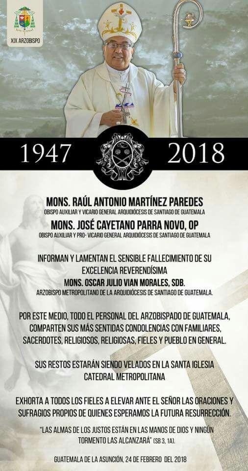 Muere Óscar Julia Vian Morales