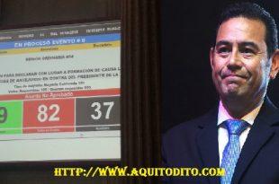 Inmunidad Presidente Jimmy Morales