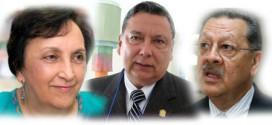 Raquel Zelaya, Gabriel Medrano Valenzuela y Juan Alfonso Quienes