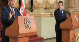 Presidente Luis Guillermo Solis visita Guatemala