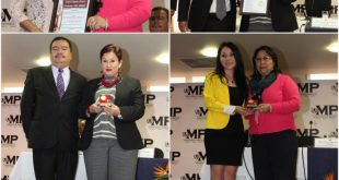 Fiscal General y Secretaria General del MP reciben reconocimientos la Asociación de Abogados y Notarios