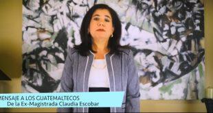 VIDEO: Ex Magistrada Claudia Escobar Habla sobre la Reforma Constitucional