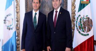 Enrique Peña Nieto y Jimmy Morales.