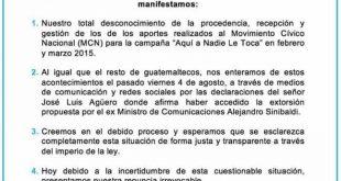 Movimiento Cívico Nacional (MCN)