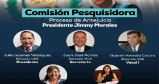 Comisión pesquisidora concluyó fase de audiencias, Antejuicio Jimmy Morales