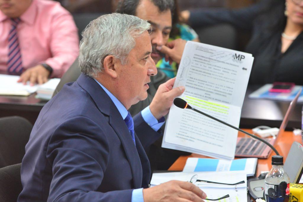 Otto Pérez Molina se defiende