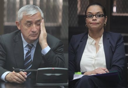 Roxana Baldetti y Otto Pérez Molina