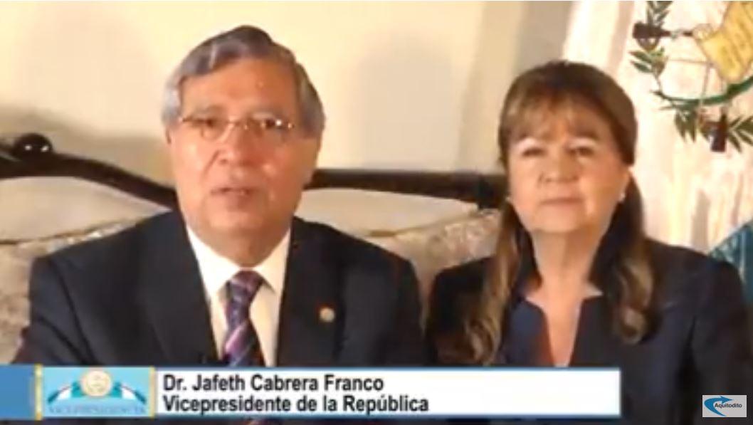 Vicepresidente Jafeth Cabrera envía saludo navideño a guatemaltecos