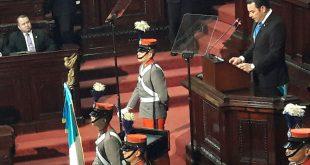 Segundo Informe de Gobierno Presidente Jimmy Morales pide que 2018 sea el año de la Unidad Nacional