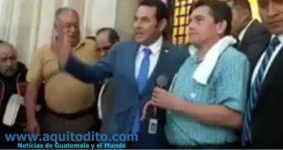 Jimmy Morales y Joviel Acevedo