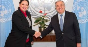 Sandra Jove en la ONU