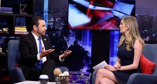 Jimmy Morales se retira de Entrevista