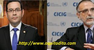 Jimmy Morales NO renovará El Mandato de la CICIG