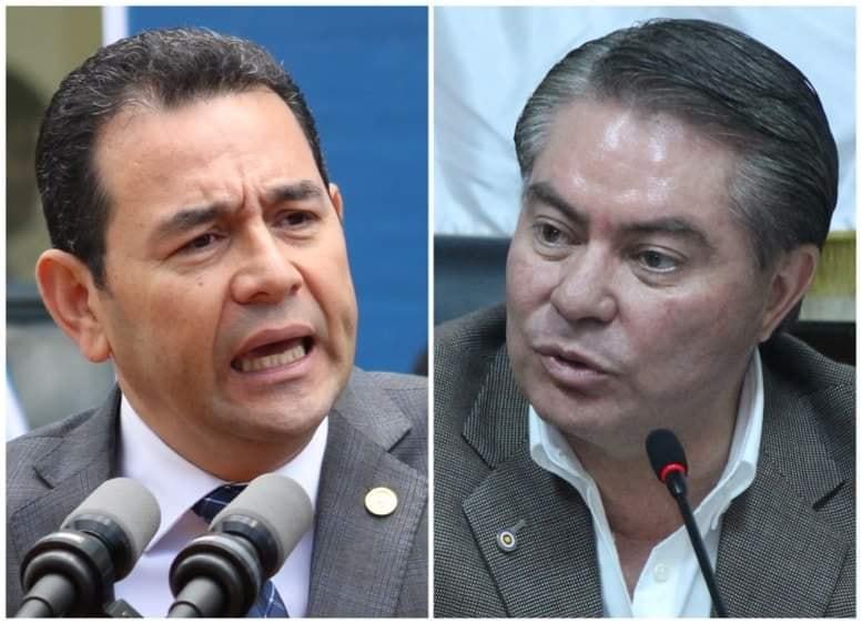 reunión de Jimmy Morales con Mario Estrada