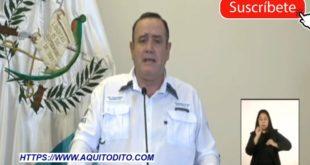 Alejandro Giammattei da nuevas disposiciones hasta el 19 de abril