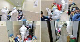Pacientes del IGSS con Coronavirus deban estar el suelo y sin distanciamiento.