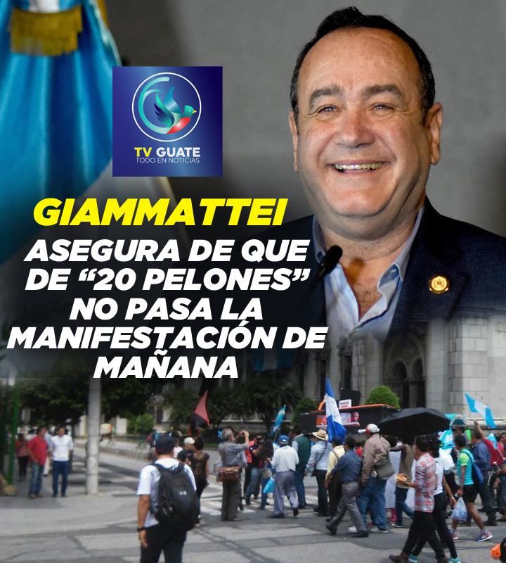 Protesta Contra Alejandro Giammattei