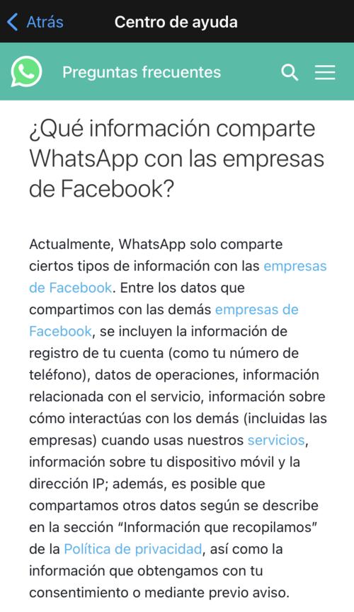 WhastApp politicas