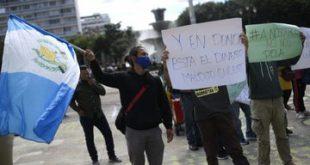 Protestas en Guatemala por 4 días