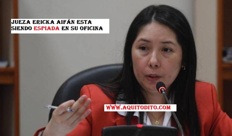 Jueza Erika Aifán estaba siendo espiada en su despacho, según la PDH