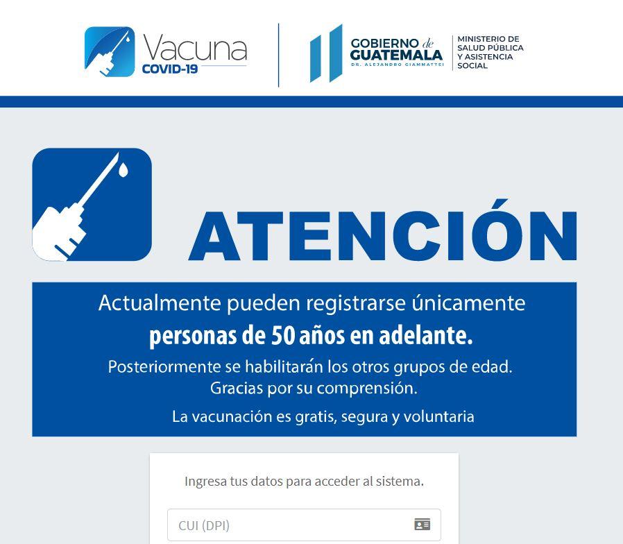 Fallas en la Plataforma del Registro de Vacunación