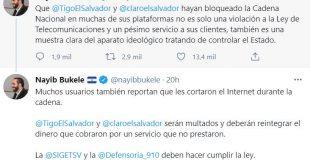 Nayib Bukele ordena multar a empresas Tigo y Claro El Salvador