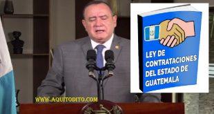 Veta ley de Contrataciones del Estado de Guatemala