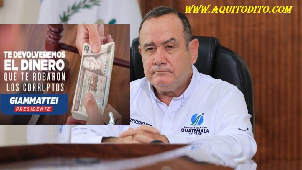 Presidente Alejandro Giammattei supuestamente recibió dinero por rusos